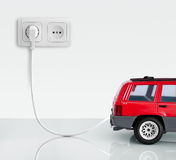 The car on a white background. Stock Photography
