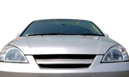 The Car on white background. The Passenger car of the colour gray on white background. The Insulated subject Stock Photo