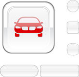 Car white button. Royalty Free Stock Photo