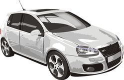 Car of white color. Vector illustration Stock Images
