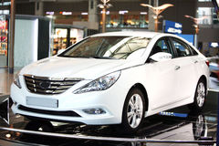 Car of white color Korea Seoul Royalty Free Stock Photos