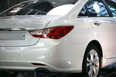 Car white color Korea Seoul Royalty Free Stock Image