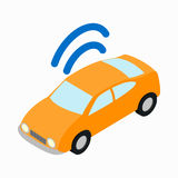 Car Wi-fi icon, isometric 3d style Stock Images