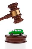 Car will be auctioned. Foreclosure sale. Royalty Free Stock Photos