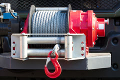 Car winch offroad Stock Images