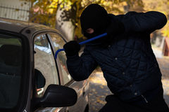 Car window break-in Royalty Free Stock Photo