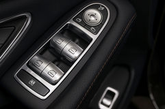 Car window control buttons. Royalty Free Stock Images