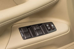 Car window control buttons. Royalty Free Stock Image