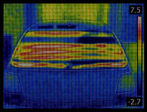 Car Window Heater Infrared Royalty Free Stock Photo