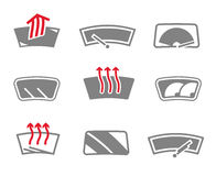 Car window icons Royalty Free Stock Photography