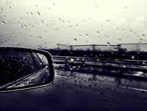 Car Window Rain Drops Stock Photo