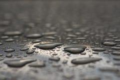 Car window after rain Stock Photo