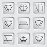 Car window sign. Car window dashboard sign on the button. Vector illustration Stock Photo