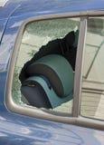 Car window smashed Royalty Free Stock Images