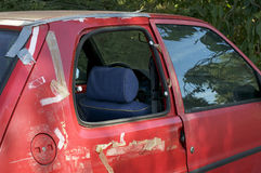 Car window smashed Royalty Free Stock Images