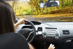 Car windscreen with road Royalty Free Stock Images