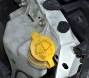 Car Windscreen Washer Bottle Stock Photo
