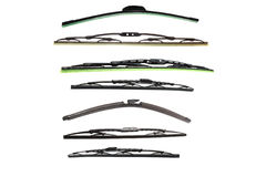 Car windscreen wipers Stock Photo