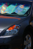 Car Windshield sun shades Royalty Free Stock Images