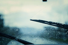Car windshield wipers. Royalty Free Stock Images