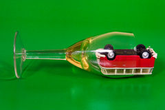 Car in wine glass Royalty Free Stock Image