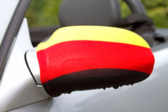 Car Wing Mirror. German flag on the car wing mirror Stock Image