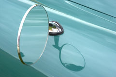 Car wing mirror. Horizontal stock photo