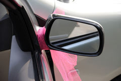 Car Wing Mirror. A silver car Wing Mirror Royalty Free Stock Photos
