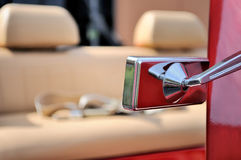 Car wing mirror Royalty Free Stock Images
