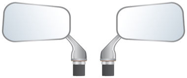 Car wing mirrors. Illustration of left and right car wing mirrors Royalty Free Stock Photo