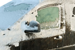 Car in winter. Royalty Free Stock Image