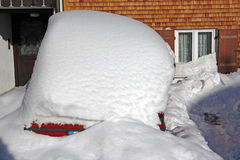 A car in the winter Royalty Free Stock Image