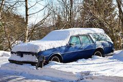 Car in winter Royalty Free Stock Images