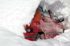 A car in the winter Royalty Free Stock Photography
