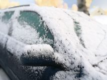 Car in winter Royalty Free Stock Photos