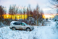 car in winter Stock Photography