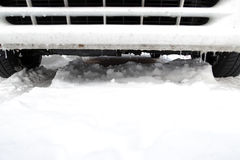 Car in winter time Royalty Free Stock Photo