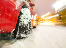 Car with winter tyre Stock Photography