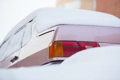 Car in winter under snow Stock Photography