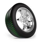 Car winter wheel with separate tread Royalty Free Stock Photos