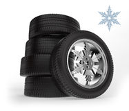 Car winter wheels Stock Photography