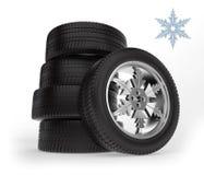 Car winter wheels Stock Photography