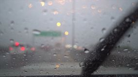 Car wiper stock footage