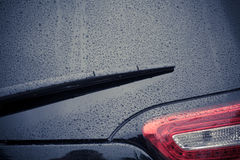 Car wipers on windshield Stock Photos