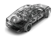 Car wire Royalty Free Stock Image