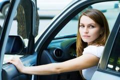car woman young Стоковые Изображения RF