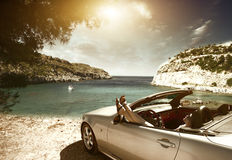 Car; women; Royalty Free Stock Images