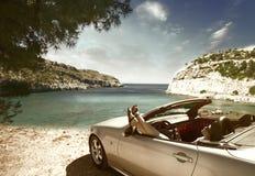 Car; women; Royalty Free Stock Photo