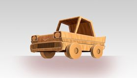 Car with wood. Art illustration vector illustration
