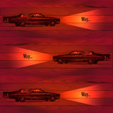 Car on a wooden background Stock Images